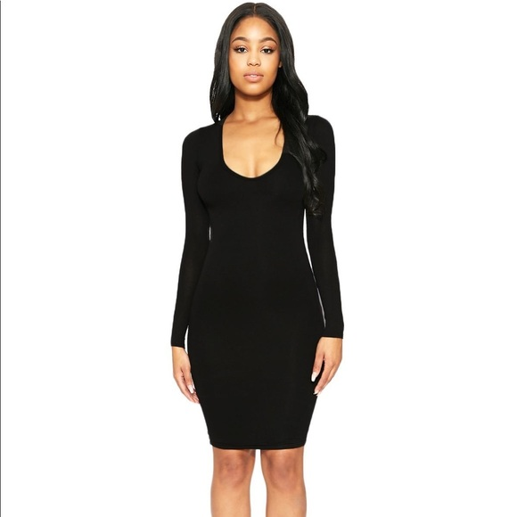 db5ba4ff49 Naked Wardrobe Black V-Neck Mini Dress in Small! M 5a5023773afbbd446e017dbf